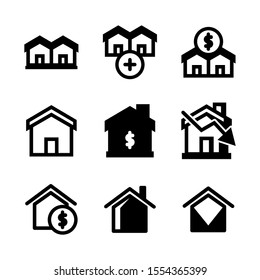 real estate icon isolated sign symbol vector illustration - Collection of high quality black style vector icons