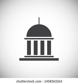 Real estate icon on background for graphic and web design. Simple illustration. Internet concept symbol for website button or mobile app.