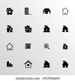 Real estate icon set, vector symbols, Can be used for web, print and mobile
