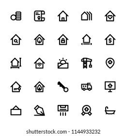 Real Estate icons in for any purposes. Perfect for website mobile app presentation and any other projects. Suitable for any user interface and user experience.
