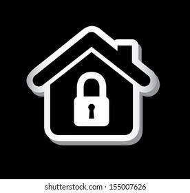 real estate icons over black background vector illustration