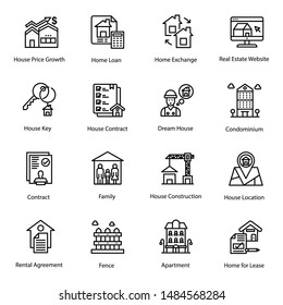 Real estate icons pack is displaying vectors for your projects like house mortgage, house for sale and so on.