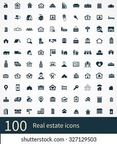 real estate Icons Vector set.