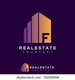 real estate initial Letter F Logo design