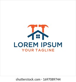 Real estate Initial letter H home logo concept design. Symbol graphic template element