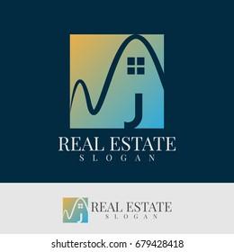 real estate initial Letter J Logo design