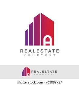 real estate initial Letter A Logo design