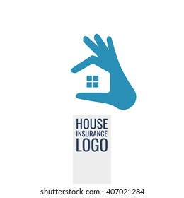 Real Estate, insurance, home care, service vector logo template. Logo for your business.