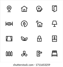 Real estate interiors icons - Set 1
