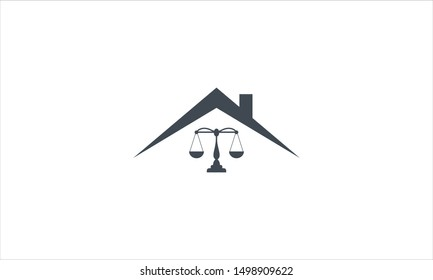 Real estate law firm logo flat design