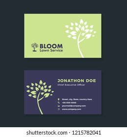 Real Estate, Lawn & Landscaping Service, Corporate, Creative, Minimal, Professional Business card Design