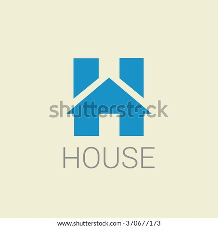 23a976d7e60 Real estate letter H logo in a house home shape icon design template element