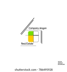 Real estate. Real estate logo. Real estate agency logo. Property For Sale. Buying a property.