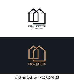 Real estate logo with business card template