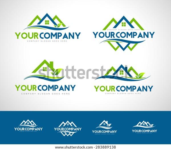Real Estate Logo Creative Real Estate Stock Vector