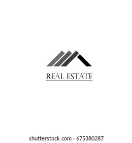 real estate logo design and business card template