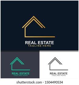 Real estate logo design.  modern and elegant style design. bussines logo design template