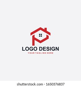 Real Estate Logo Design Monogram Letter Stock Vector Royalty Free 1650376837