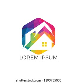 Real estate logo design. Logo symbol or icon for real estates or building construction business.