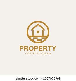 real estate logo design template, vector