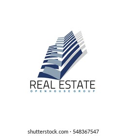 Real Estate logo design template. Corporate branding identity