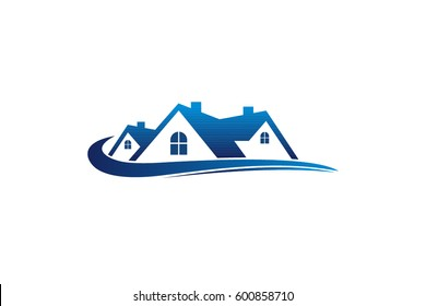 real estate logo, house logo, home logo template