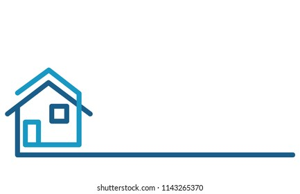 Real Estate Logo, house on white, stock vector illustration