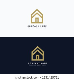Real estate logo, house roof related to property logo, house rent.