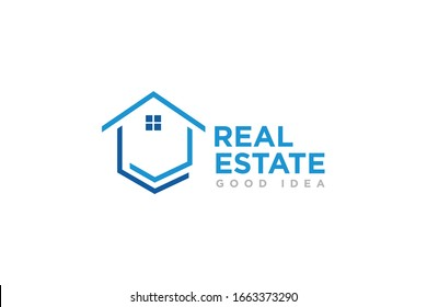 Real Estate Logo Icon Design Vector