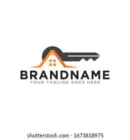 Real Estate logo icon. Home simple logo design template. Flat design on trendy logo.