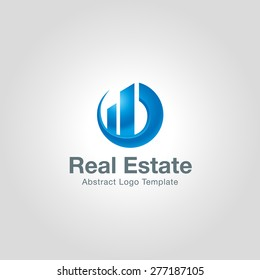 Real Estate logo template. Corporate branding identity