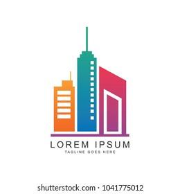Real estate logo, vector logo template.