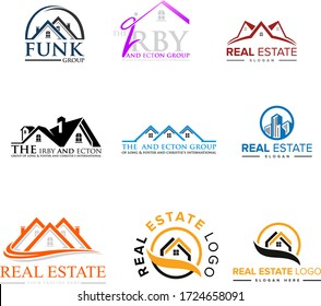 Real Estate logo,Real Estate, Building and Construction Logo Vector Design Eps 10