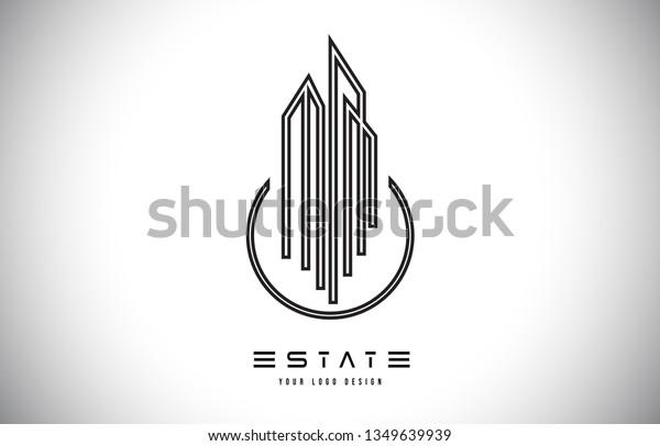 Real Estate Modern Monogram Logo Design Stock Vector Royalty Free 1349639939