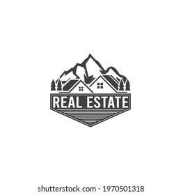 real estate moutain logo modern