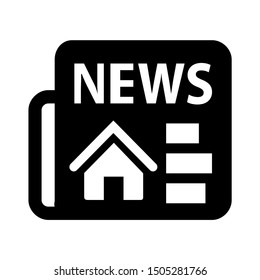 real estate news icon - From property, commercial house and real estate icons, mortgage icons