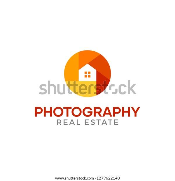 Real Estate Photography Logo Design Idea Stock Vector Royalty Free 1279622140
