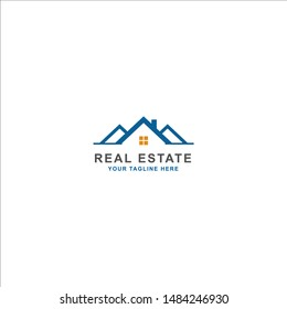 Real Estate Property Logo Design Vector with House Icon