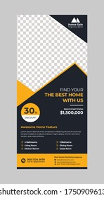 Real estate rack card template with print ready