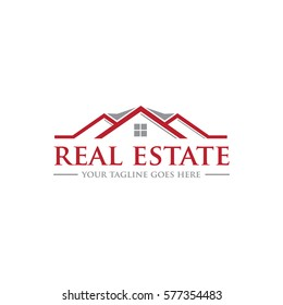 real estate roof top concept logo icon vector template