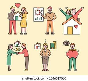 Real Estate Transaction Information. flat design style minimal vector illustration.