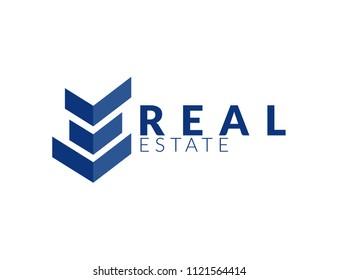 Real Estate vector logo design House abstract concept icon.