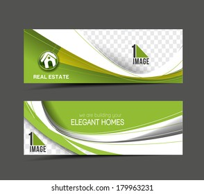 Real Estate Web Banner & Header Layout Template.