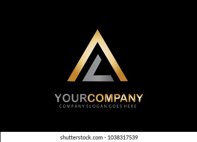 Real estate.Home Logo. LA Letter Logo. Pyramid Symbol Design