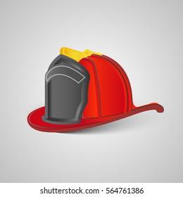 Real firefighter helmet, vector