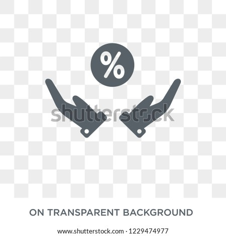 649b32882d Real interest rate icon. Trendy flat vector Real interest rate icon on  transparent background from business collection. - Vector