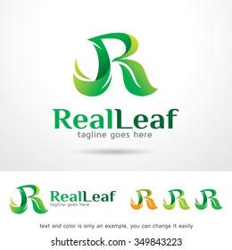 Real Leaf Letter R Logo Template Design Vector