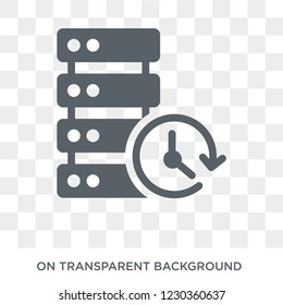 real time data icon. Trendy flat vector real time data icon on transparent background from General collection.