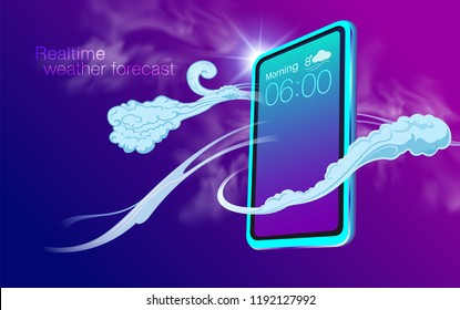 Real time weather forecasts for smartphone applications. Realistic weather reports, wind strength, sky conditions, temperature can be applied to different media, web sites, posters, brochures.