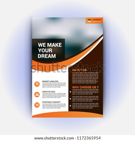 realestate flyer template stock vector royalty free 1172365954
